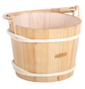 10712 Pine Pail with curved bamboo handle
