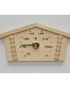 "1517: Wooden Log House thermometer (9 1/8"" x 4 5/8"", °F)"