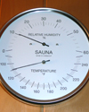 19501: Glass encased dual Thermometer Hygrometer